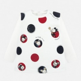 Tričko s dlouhým rukávem s potiskem pro dívky Mayoral 2012-82 Granat