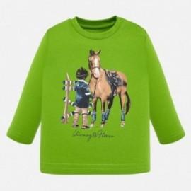 Tričko s dlouhým rukávem pro chlapce Mayoral 2025-94 Pistachio