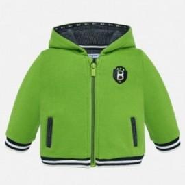 Halenka bavlna s kapucí s aplikacemi pro chlapce Mayoral 2456-54 Pistácie