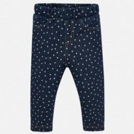 Kalhoty dlouhá pletená denim pro dívky Mayoral 2531-5 Džíny