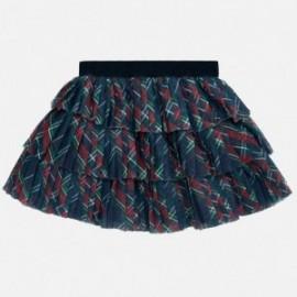 Skládaná tylová sukně pro dívky Mayoral 2901-11 Kratka