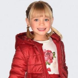 Tričko s dlouhým rukávem pro dívku Mayoral 4006-68 krém-červená
