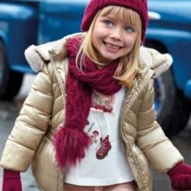 Tričko s dlouhými rukávy, skládané zády, pro dívku Mayoral 4011-26 krémová-burgundská