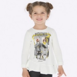 Tričko s dlouhým rukávem pro dívku Mayoral 4015-36 Cream