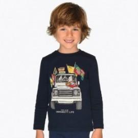 Triko s dlouhým rukávem pro chlapce Mayoral 4026-21 granát