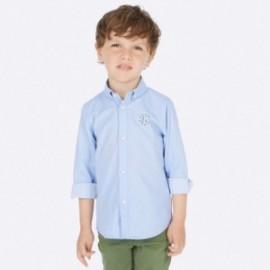 Košile s dlouhým rukávem s aplikacemi chlapec Mayoral 4120-82 Modrá