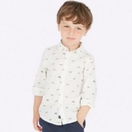 Košile s dlouhými rukávy se vzory chlapec Mayoral 4121-63 Bílá