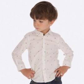 Košile s dlouhým rukávem se vzory pro chlapce Mayoral 4123-18 Bílá