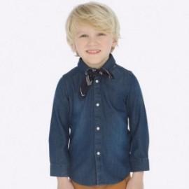Džínové tričko s dlouhým rukávem s kapesníkem pro chlapce Mayoral 4124-52 Dark