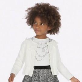 Pletený svetr s luky pro dívku Mayoral 4306-25 krém