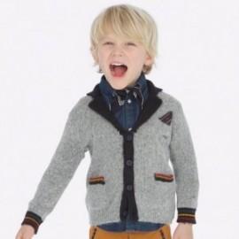Elegantní pletený svetr pro chlapce Mayoral 4437-76 šedá