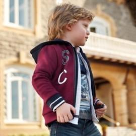 Sportovní bavlněná mikina s kapucí pro chlapce Mayoral 4455-19 řepa
