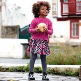Žakárová sukně se vzory pro dívku Mayoral 4905-50 Fuksja