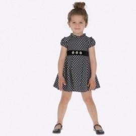 Žakárové šaty s puntíky pro dívku Mayoral 4932-95 granát