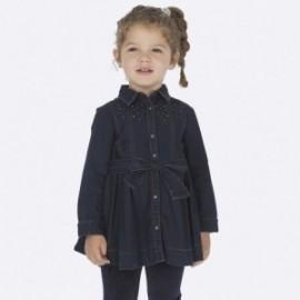 Džínové šaty s krystaly pro dívky Mayoral 4933-5 Jeans