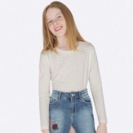 Tričko s dlouhým rukávem pro dívku Mayoral 7012-36 Smetanový