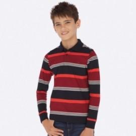 Tričko polokošile s dlouhými rukávy v pásech Mayoral 7110-11 Bordó