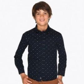 Košile s dlouhým rukávem ve vzorcích chlapců Mayoral 7117-83 Námořnický