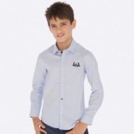 Košile s dlouhými rukávy chlapec Mayoral 7121-52 Modrá