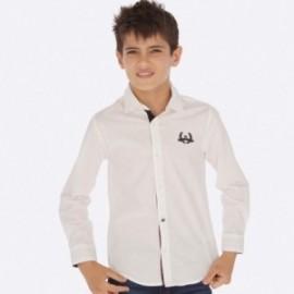 Košile s dlouhým rukávem chlapec Mayoral 7121-53 Bílá