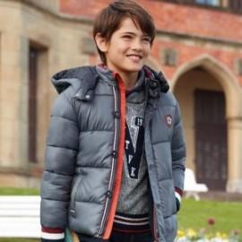Teplý svetr s límcem šálu pro chlapce Mayoral 7310-38 Granat