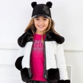 Halenka bavlna s nápisem dívčí Mayoral 7405-80 Fuchsia