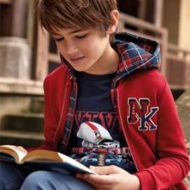 Halenka bavlna na stojatém límci pro chlapce Mayoral 7449-32 Bordó