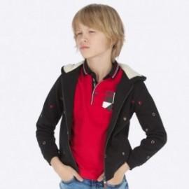 Halenka bavlna s kapucí s výšivkou chlapec Mayoral 7452-36 Černý