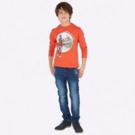 Kalhoty z měkkého džínoviny chlapci Mayoral 7509-52 Tmavý