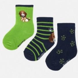 Sada 3 ponožek pro chlapce Mayoral 10633-94 Pistácie