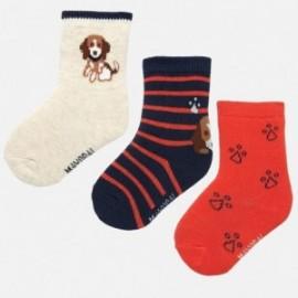 Sada 3 ponožek pro chlapce Mayoral 10633-95 Dýně