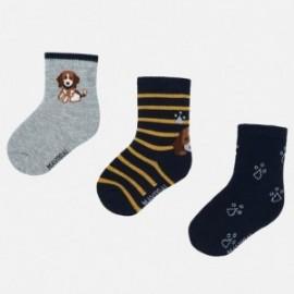 Sada 3 ponožek pro chlapce Mayoral 10633-93 Kukuřice