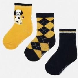 Sada 3 ponožek pro chlapce Mayoral 10634-17 ukuřice