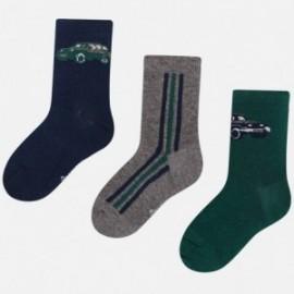 Sada 3 ponožek pro chlapce Mayoral 10678-48 Cypřiš