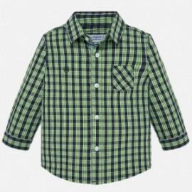 Košile s dlouhými rukávy v pléd chlapec Mayoral 2112-11 Pistácie