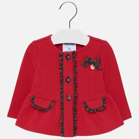 Halenka bavlna elegantní pro dívku Mayoral 2424-74 Purpur
