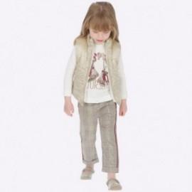 Dlouhé kalhoty s pruhem pro dívku Mayoral 4504-95 Bronze