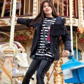 Kalhoty dlouhé sporty pro dívky Mayoral 7507-75 černá