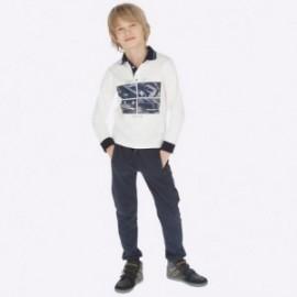 Kalhoty tepláky s pruhy moro pro chlapce Mayoral 7521-83 Titan