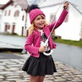 Glamour semišová sukně pro dívky Mayoral 4904-55 Černá
