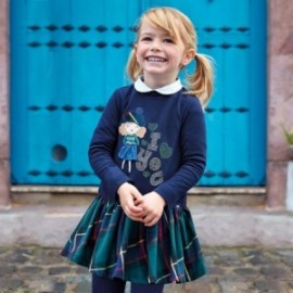 Saty bavlna se sukní kostkovaný pro dívku Mayoral 4939-40 Láhev