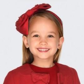Celenka elegantní s lukem a perlami pro dívku Mayoral 10713-74 Cervená
