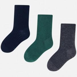Sada 3 párů ponožek pro chlapce Mayoral 10677-38 Tmavě zelená