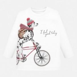 Tričko s dlouhým rukávem pro chlapce Mayoral 2026-10 bílá