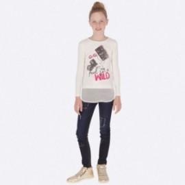 Kalhoty dlouhé džíny pro dívku Mayoral 7503-46 Granát