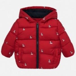Bunda sešívané s potiskem a kapucí pro chlapce Mayoral 2449-15 Cervená