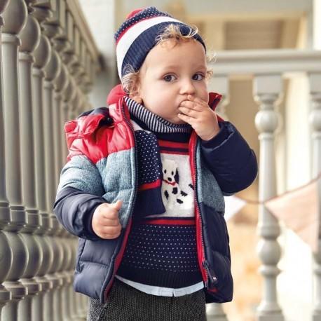 Bunda zima s kapucí pro chlapce Mayoral 2451-97 Červená