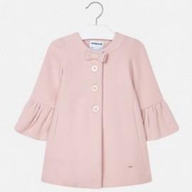 Kabát elegantní pro tlačítka dívčí Mayoral 4412-29 Nude