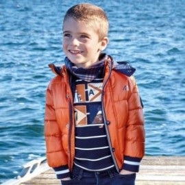 Bunda na zimu s odnímatelnou kapucí pro chlapce Mayoral 4442-68 Hlína