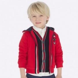 Mikina bavlna s kapucí pro chlapce Mayoral 4453-95 Červená